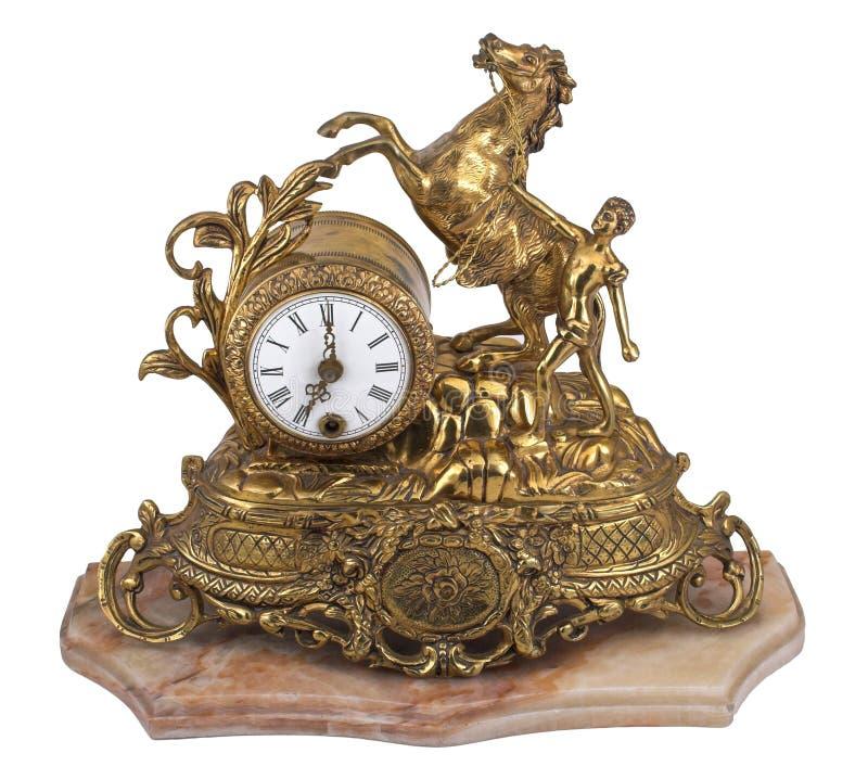 时钟表葡萄酒 库存照片