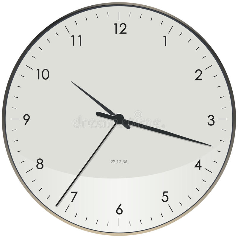 时钟表面 免版税图库摄影