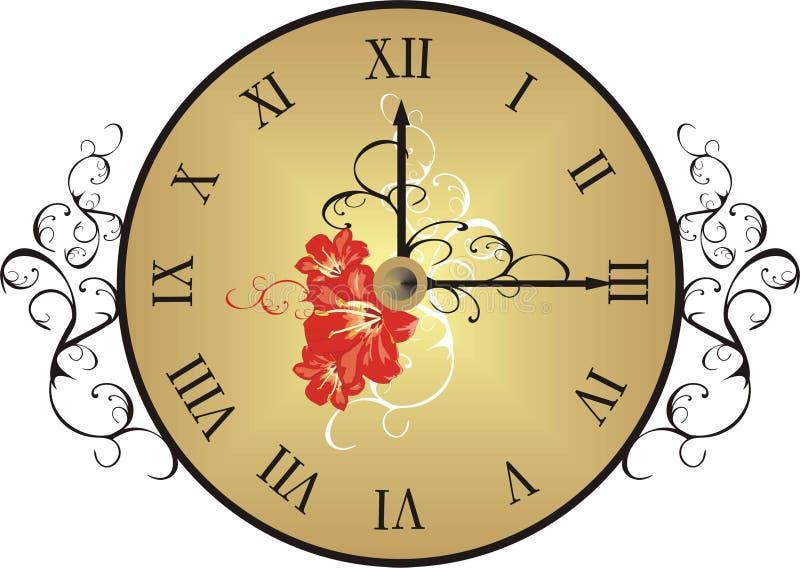 时钟装饰要素 向量例证