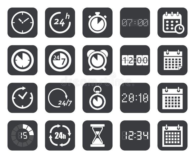 时钟,定时器,日历象 向量例证