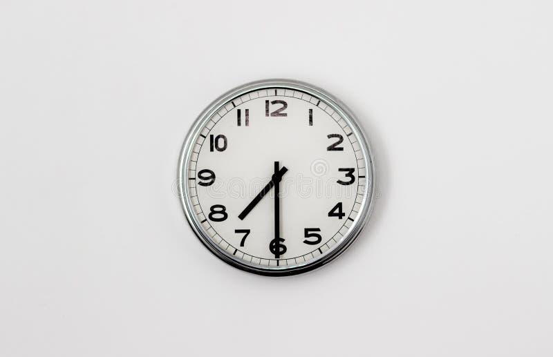 时钟7:30 免版税库存照片