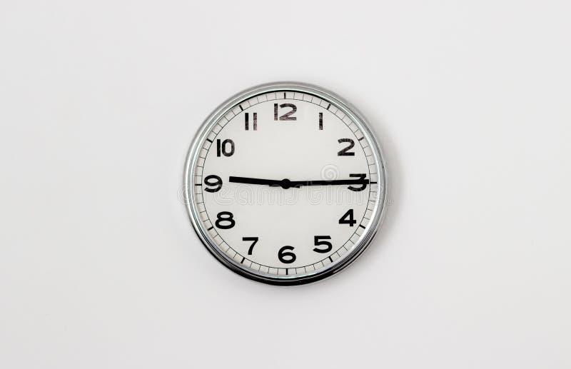 时钟9:15 库存照片
