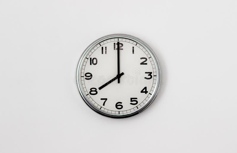 时钟8:00 库存照片