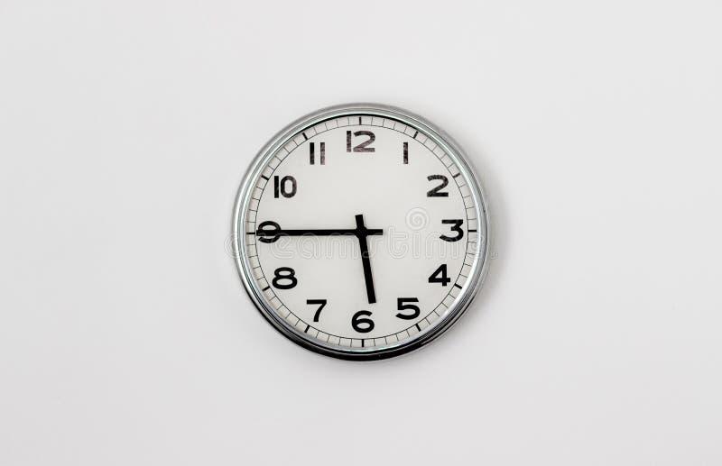 时钟5:45 库存照片