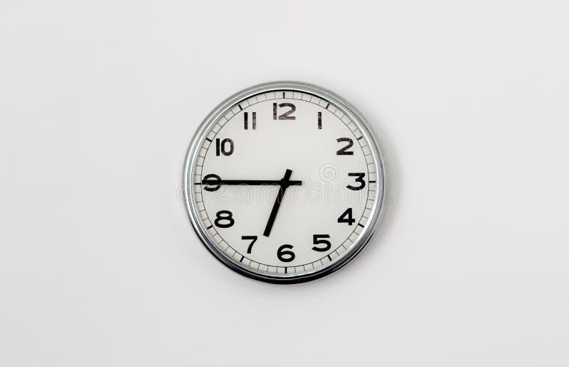 时钟6:45 库存照片