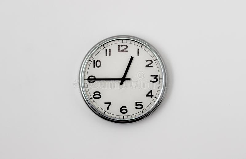 时钟12:45 库存图片
