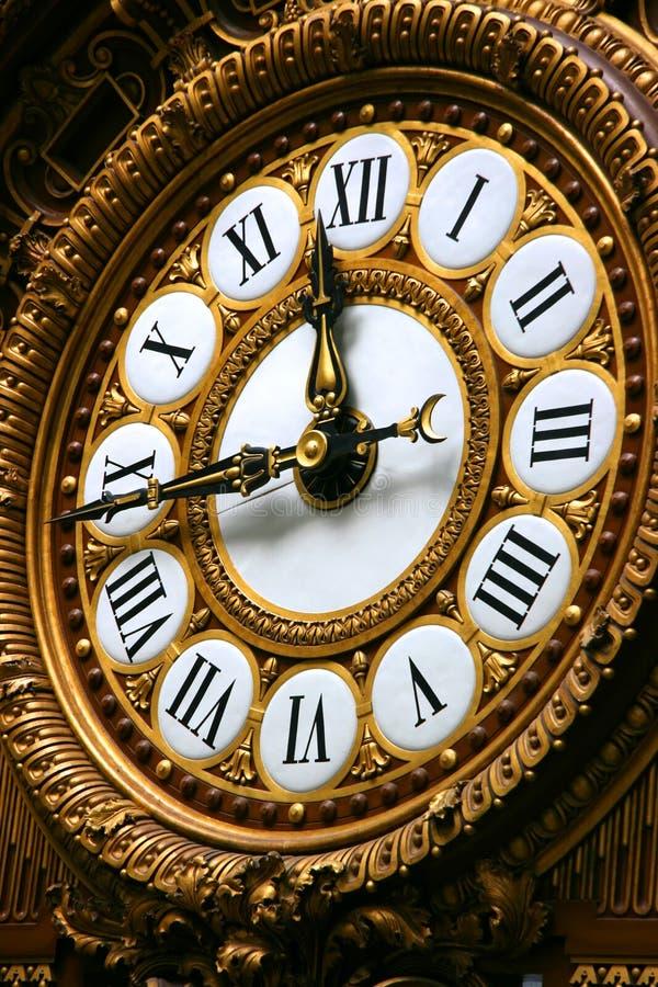 时钟orsay详细资料的博物馆 免版税图库摄影