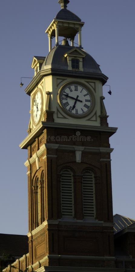 时钟peterborough塔 免版税图库摄影