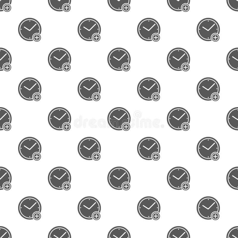 时间加上无缝的样式 向量例证