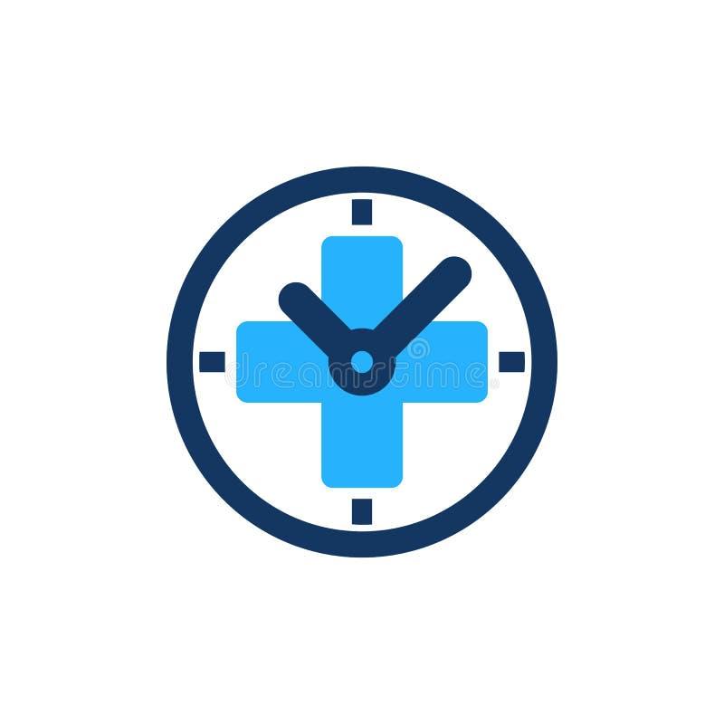 时间医疗商标象设计 向量例证