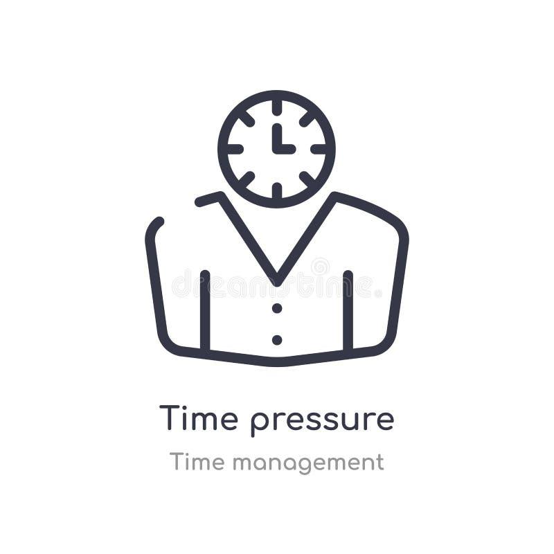 时间压力概述象 被隔绝的线从时间管理汇集的传染媒介例证 编辑可能的稀薄的冲程时间压力 皇族释放例证