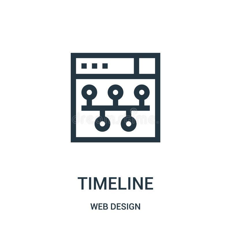 时间安排从网络设计汇集的象传染媒介 稀薄的线时间安排概述象传染媒介例证 皇族释放例证