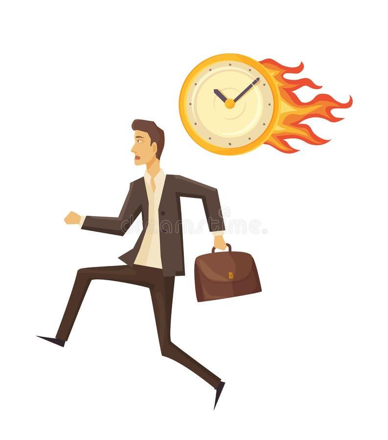 时间安排和时钟传染媒介例证 皇族释放例证