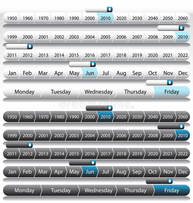 时间安排年 库存例证