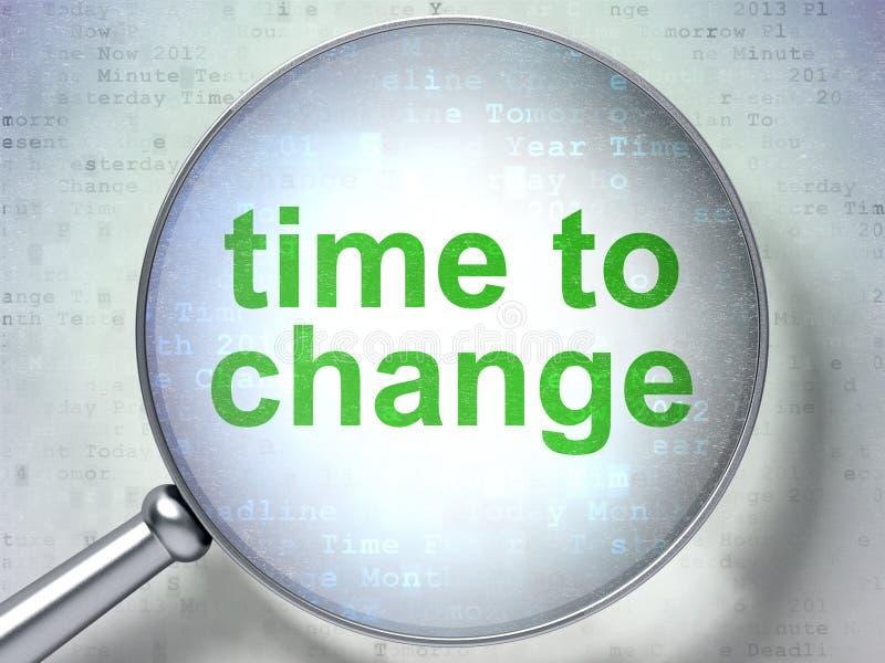 时间安排概念:时刻改变与光学玻璃 向量例证
