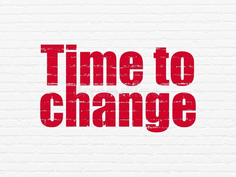 时间安排概念:时刻改变在墙壁背景 向量例证