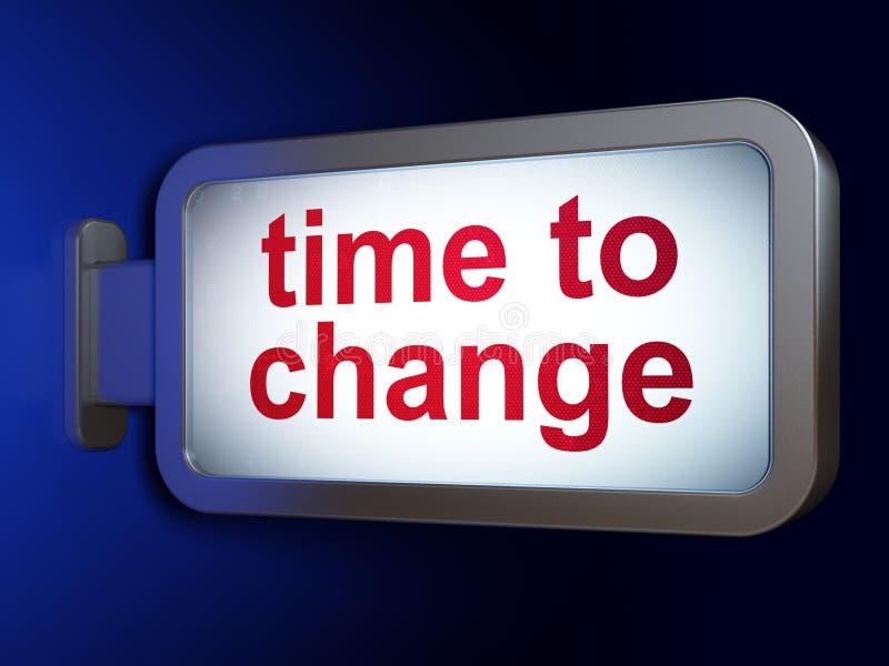时间安排概念:时刻改变在广告牌背景 库存例证