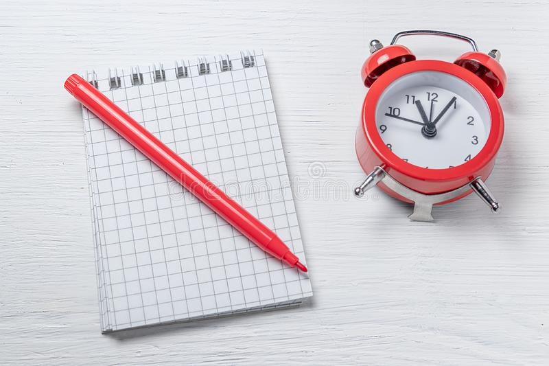 时间安排概念 时刻完成任务 清单最后期限 图库摄影