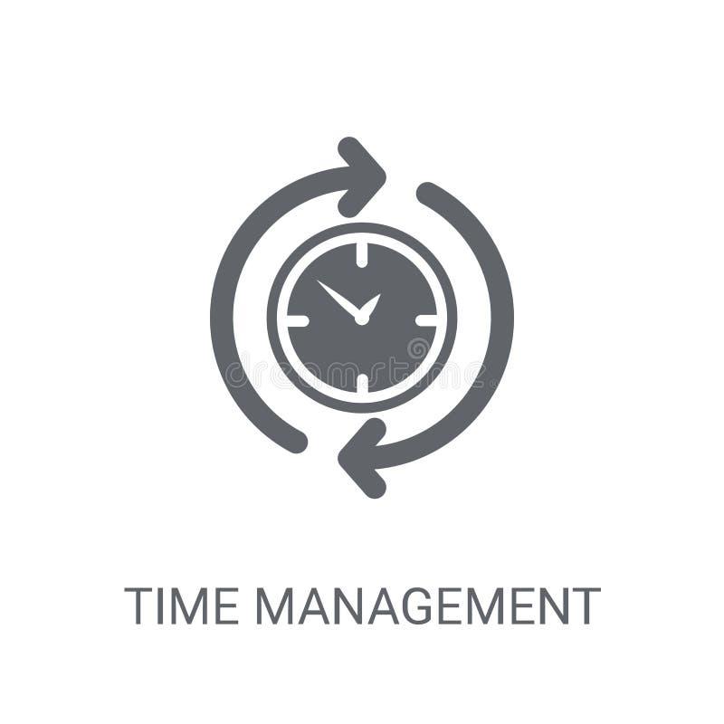 时间安排象 在whi的时髦时间管理商标概念 向量例证