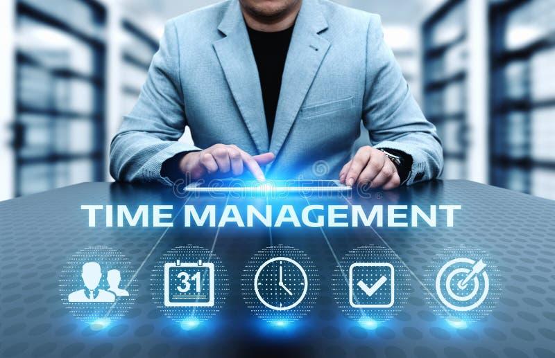 时间安排项目效率战略目标企业技术互联网概念 免版税库存照片