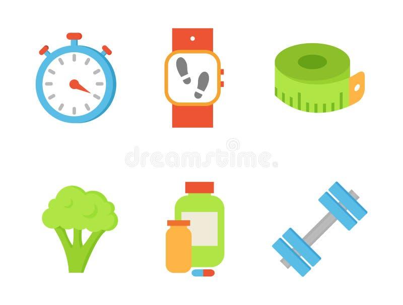 时间定时器和硬花甘蓝集合传染媒介例证 向量例证