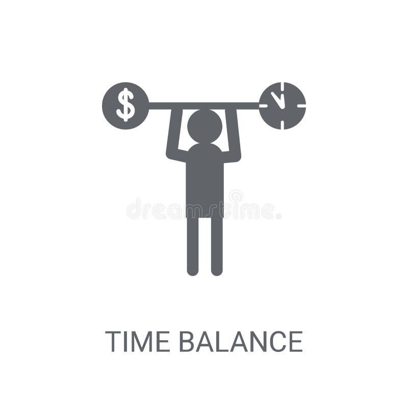 时间平衡象 在白色bac的时髦时间平衡商标概念 皇族释放例证