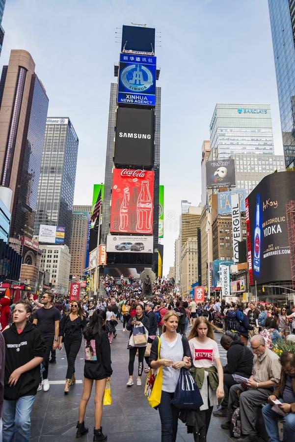 时间广场在街市纽约,美国 免版税库存照片