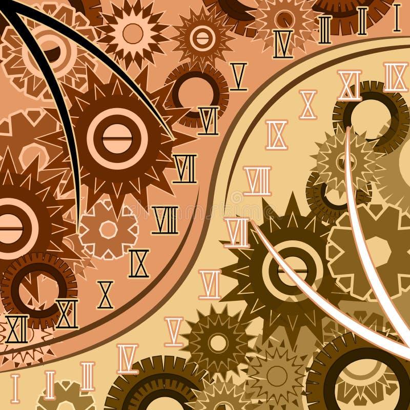 时间摘要与罗马数字的 向量例证