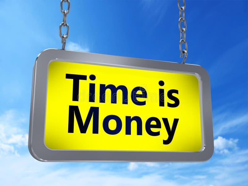 时间是在广告牌的金钱 皇族释放例证