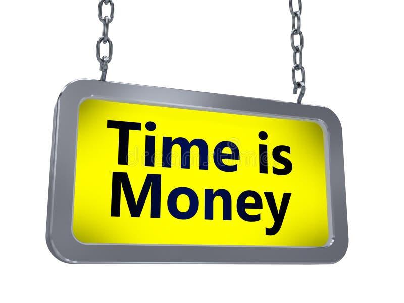时间是在广告牌的金钱 向量例证