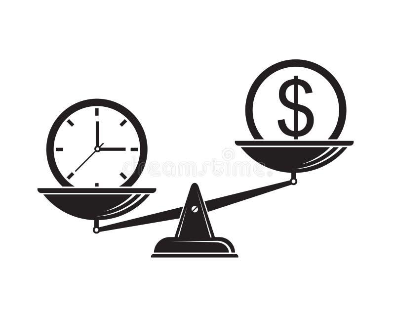 时间是在等级的金钱 向量例证