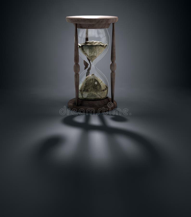 时间是货币概念例证 皇族释放例证