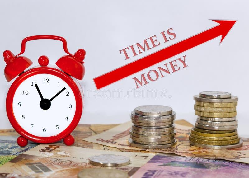 时间是货币概念 免版税库存图片