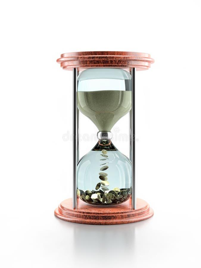 时间是货币 皇族释放例证
