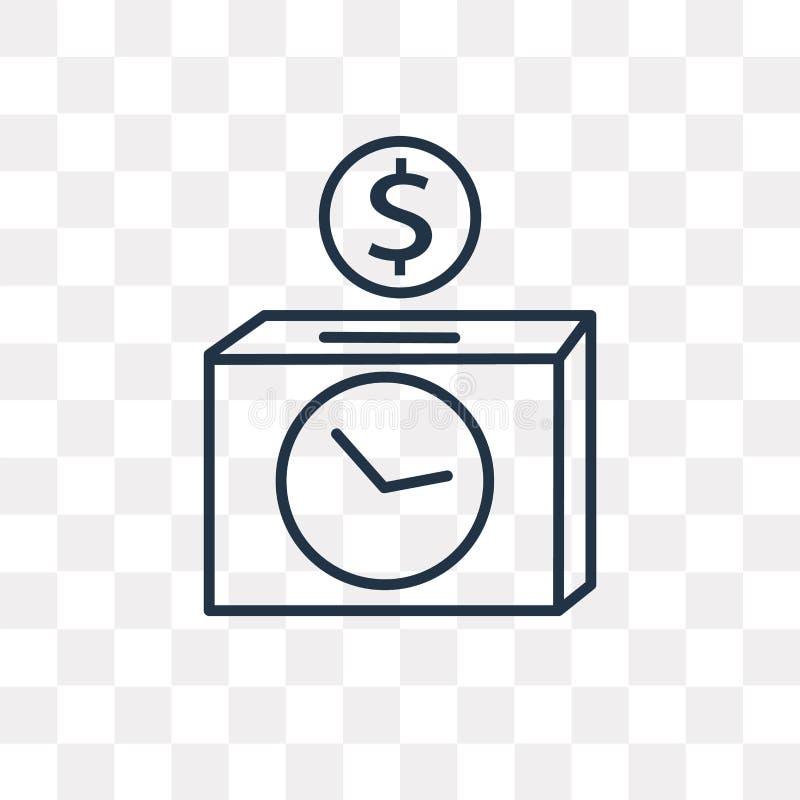 时间是金钱在透明背景隔绝的传染媒介象,锂 皇族释放例证