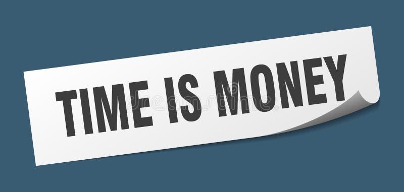 时间是金钱贴纸 库存例证