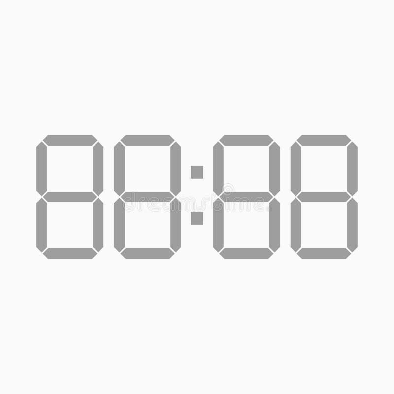 时间显示白色背景的四个数字 皇族释放例证