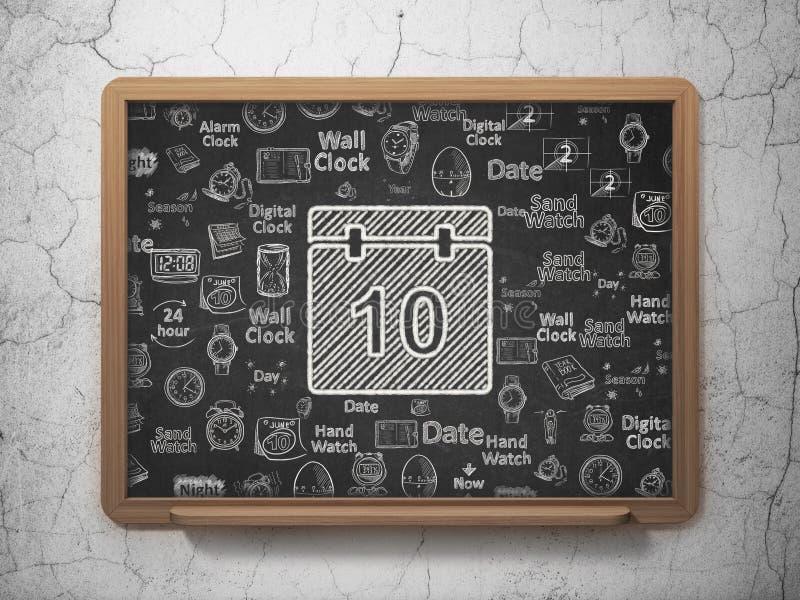时间概念:在校务委员会背景的日历 库存例证