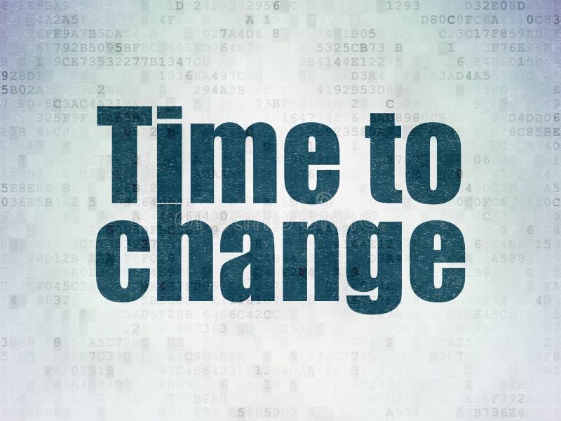 时间概念:时刻改变在数字资料裱糊背景 皇族释放例证