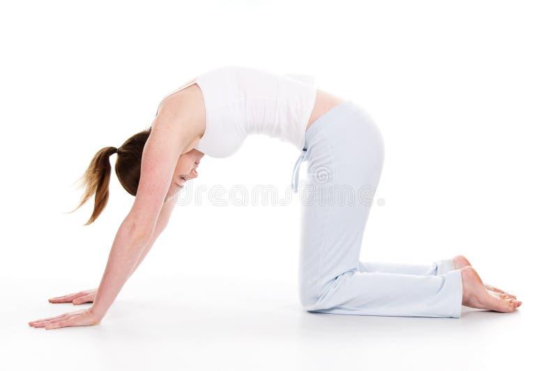 时间瑜伽 免版税图库摄影