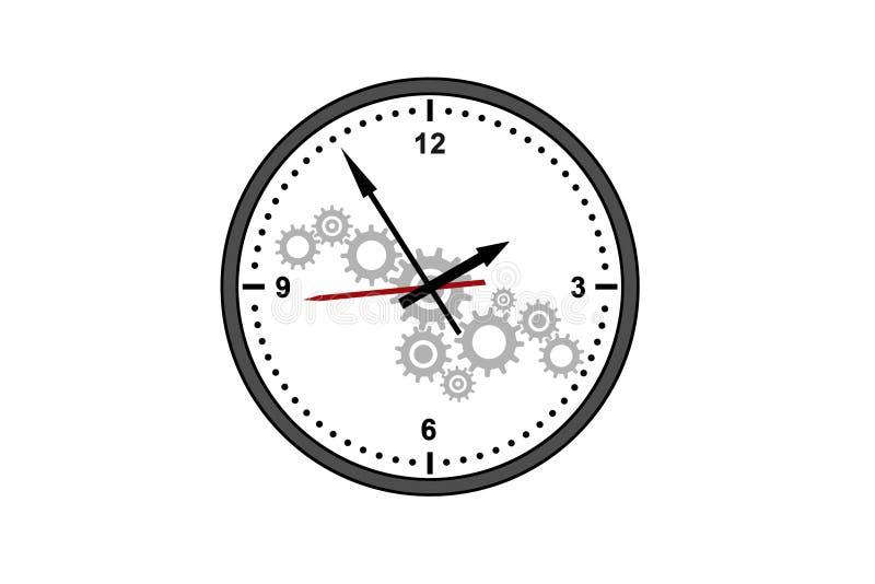 时间管理和小时概念 向量例证