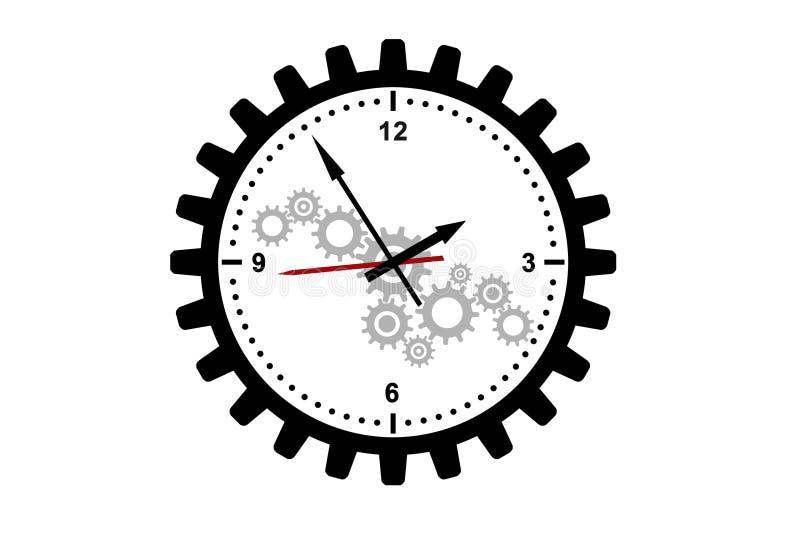 时间管理和机制概念 皇族释放例证