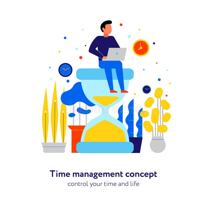 时间管理平的构成 向量例证
