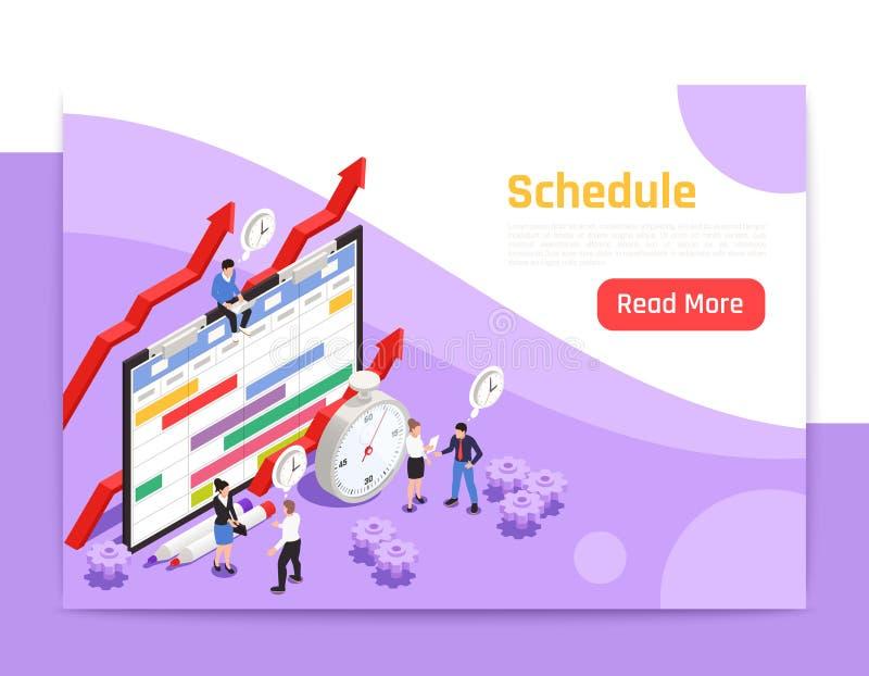 时间管理等量登陆的页 库存例证