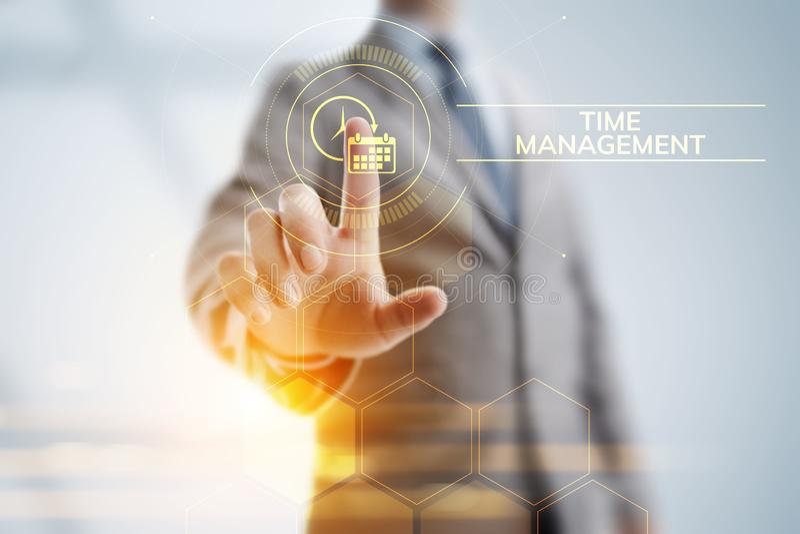 时间管理项目计划企业互联网技术概念 皇族释放例证