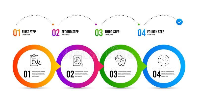 时间管理,逻辑分析方法图表和认为的报告象集合 时间变动标志 ?? 向量例证