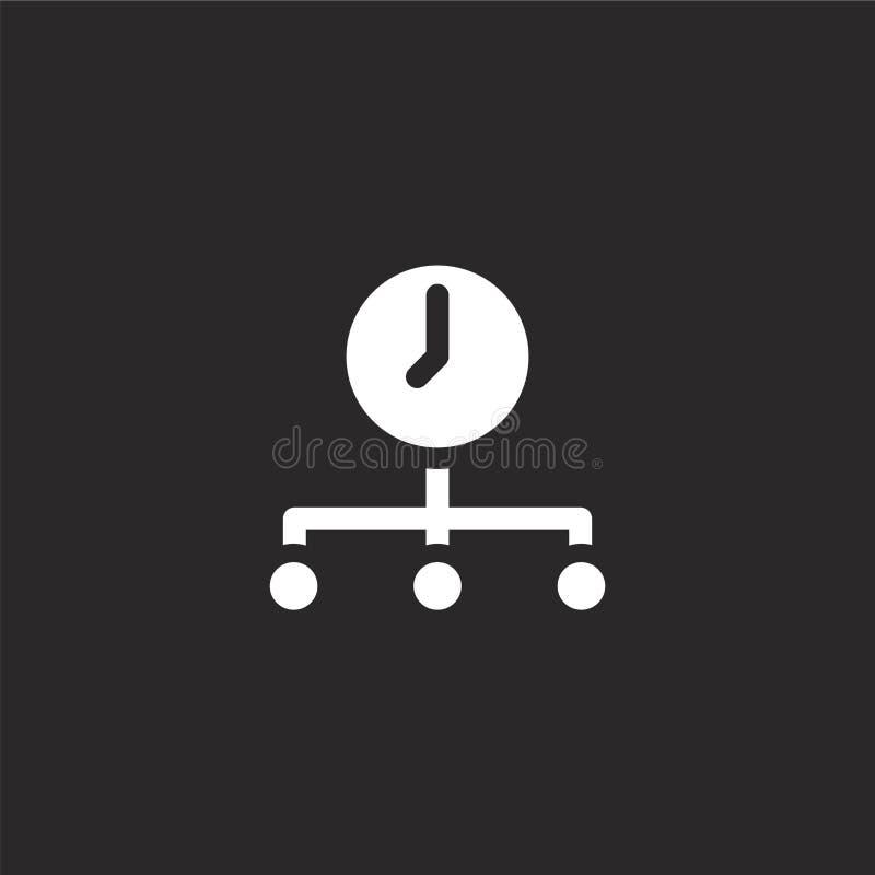 时间象 网站设计和机动性的,应用程序发展被填装的时间象 从被填装的被填装的管理元素的时间象 皇族释放例证