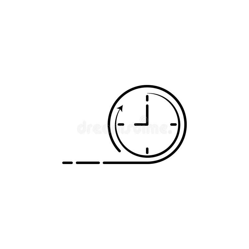 时间速度时钟象 速度象的元素流动概念和网apps的 详细时间速度时钟象可以为网a使用 向量例证