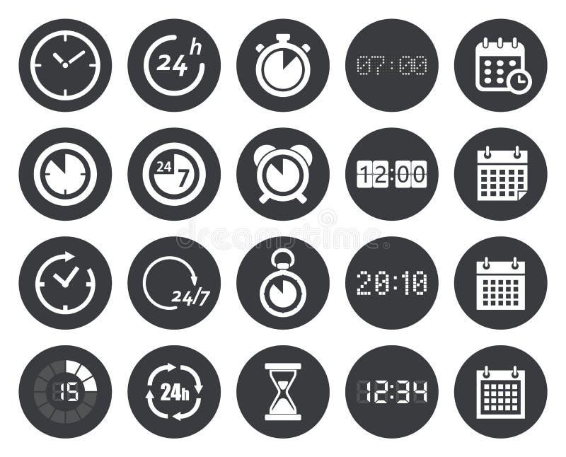 时间,时钟,日历象 库存例证