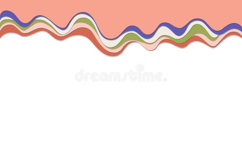 时髦传染媒介纸裁减3d作用多彩多姿的背景层数 库存图片